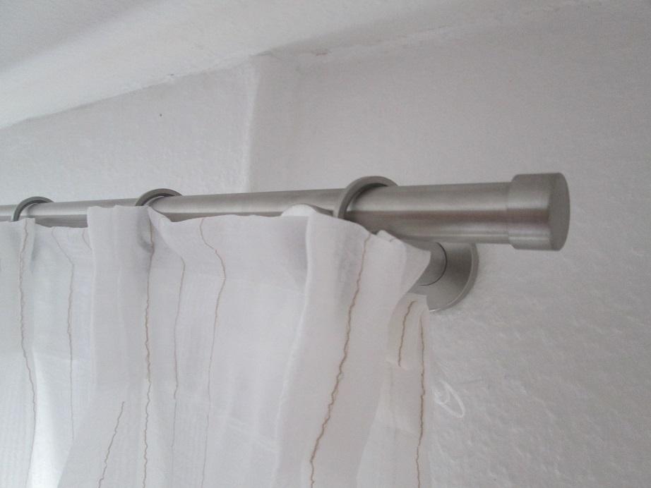 Gardinenstange V2A mit Faltenband (1)